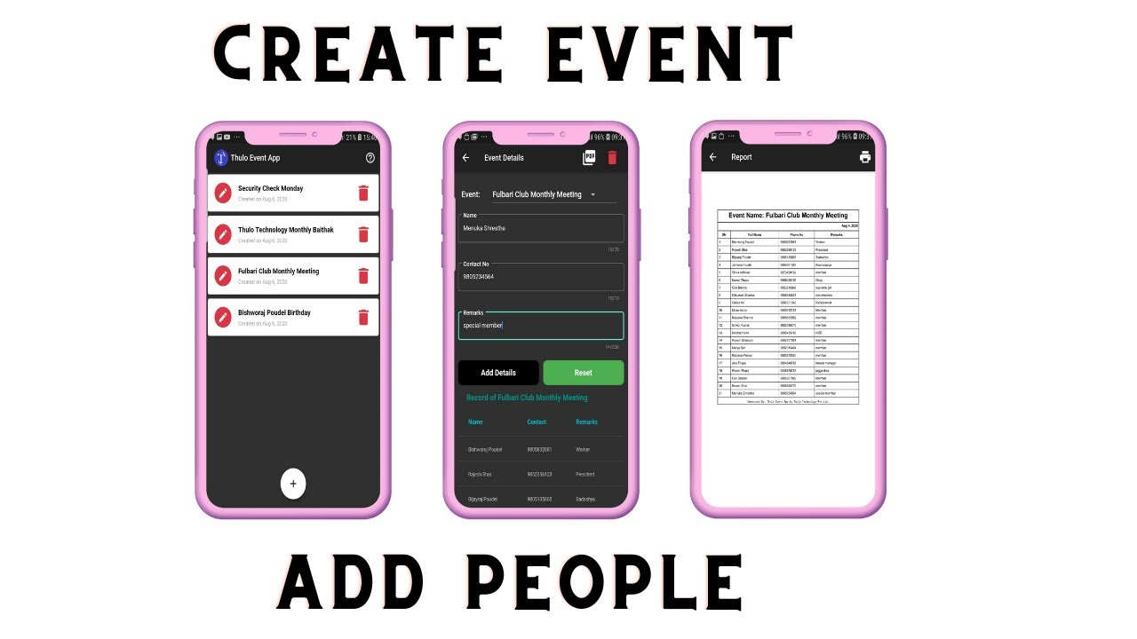 Thulo Event App